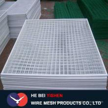Revestimiento de PVC y paneles galvanizados de alambre soldado