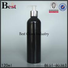 Botella de aluminio negra pintada a mano