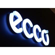 Signe acrylique de lettre de la Manche 3D avec l'éclairage de LED