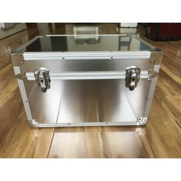 Caixa de alumínio para equipamento de escape com janela transparente