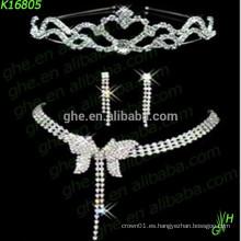Joyería nupcial, sistema de la joyería del rhinestone, collar de la manera