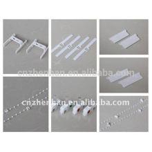 Acessórios de persianas verticais, acessório de cortina, gancho de 100mm + cabo de espaçador +, componentes de persianas verticais
