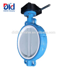 Stem Ss410 Catalogue Aluminum Teflon Seat Nylon Disc Wafer Type 8 Inch Butterfly Valve Gear Type