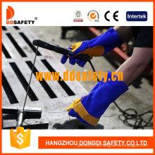 Blue Yellow Welder Handschuh-Dlw626, Cow Split Lederhandschuhe (DLW626)