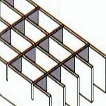 Målad Plug Steel Bar Grid