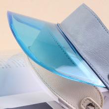 Mode Kurzlinse PVC Anti-UV-Visier Hut