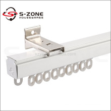 Practical home window rail design silver straight curtain track