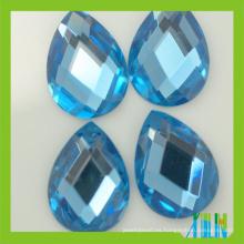 nueva alta refracción sin plomo máquina corte lágrima pera gota cuentas de vidrio cristal plano espalda