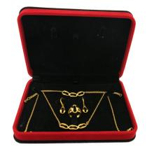 Juego de joyas de acero inoxidable 316L plateado en oro