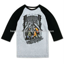 3 4 length sleeve t shirts with printing logo
