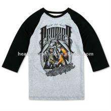 3 4 camisas de manga longa t com logotipo de impressão