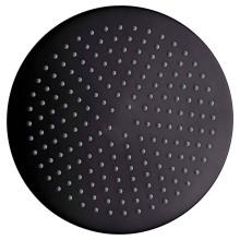 Cabezal de ducha superior antiguo negro de latón redondo