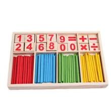 Educational Children's Math Teaching Sticks Wooden Toy