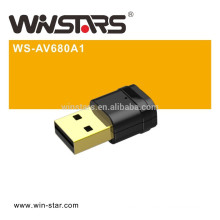 802.11ac 600M DualBand WiFi USB2.0 Adapter,Easy wireless security encryption at a push of the WPS button