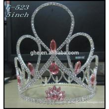 Silver Star Princess tiara atacado Hot Sale Beauty Girls Tiara coroas redondas