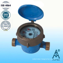 Single Jet Wet Type Brass Body Water Meter