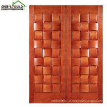 Projetos de porta de madeira clássica de carvalho