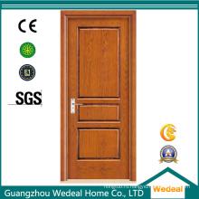 Высококачественная гладкая дверь из шпона из массива дерева