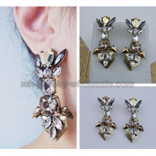 Complicated Construction Antique Bronze Classical Earrings