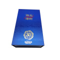 Blue Fancy Paper Book-shape Wine Gift Box