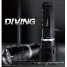 Hi-max Magnetic rechargeable battery 100m waterproof scuba diving LED cree portable aluminum torch