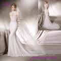 Elegant Guipure Bodice Mermaid Wedding Dress with Halter Neck