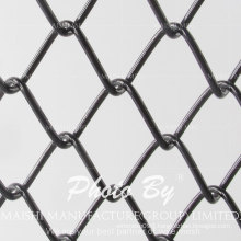 Black PVC Coated Chain Link Fabric Fence