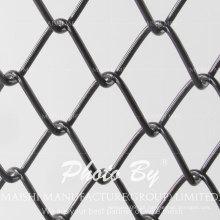 Cerca de tecido de elo de corrente de PVC preto revestido