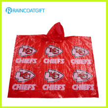 Custom Logo Printed PE Disposable Raincoat Rpe-006A