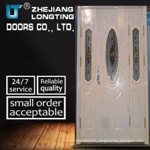Three Leves Steel Security Door with White Color