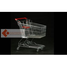 100L Small Cold steel Supermarket Shopping Cart / trolley A