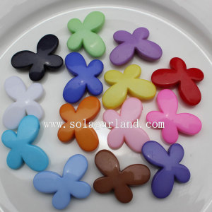 Couleurs opaques acrylique papillon Spacer Beads Design