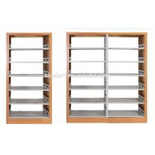 Schulmetallmöbelbibliothek benutzte doppelseitiges Bücherregal
