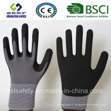 Gants de travail de sécurité en couche de nitrure, de sable fin (SL-NS110)
