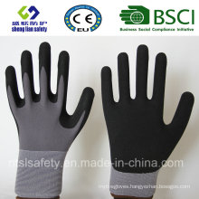 Nitrile Coating, Sandy Finish Safety Work Gloves (SL-NS110)