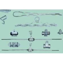 Abrazadera de suspensión preformada de fulcro único para ADSS