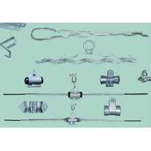 Single fulcrum Preformed suspension clamp for ADSS