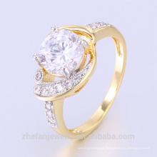 el último anillo de oro de la joyería de Guangzhou diseña los anillos del ópalo del fuego con alta calidad