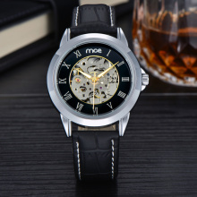 oem own logo automatic leather mens watch