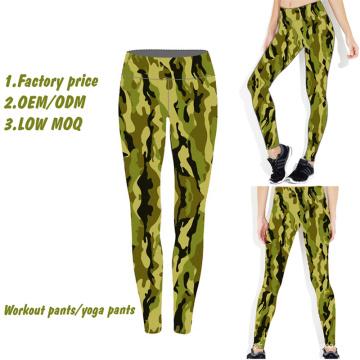 Pantalons de yoga de jambières de sublimation, pantalons de yoga en gros de femmes, pantalons de yoga faits sur commande