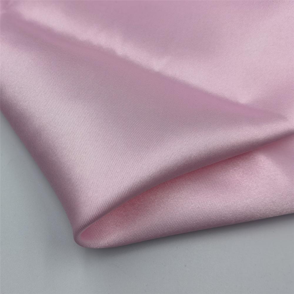 Smooth Dyed Plain Polyester Silk Satin Scarf Fabrics