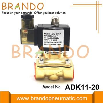 G3 / 4 '' ADK11-20G / A / N Pilot Operated Brass Solenoid Valve