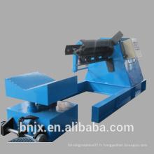 Bobine en acier à 5 tonnes pleine automatique Décoiler hydraulique (Apportez la voiture prévue)