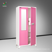 bedroom steel two door mirror wardrobe design cheap furniture wardrobe bedroom