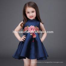 2017 Мода Девушки Детское Платье На 2-4 Годика Ручной Работы Девочка Платье Детские Платья