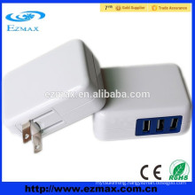 Mobile phone use wall usb charger 3 USB