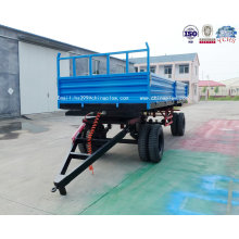 Agricultural Tipping Trailer Mounted Double Axle Farm Trailer