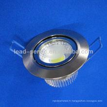 Fabricant chinois nouvelle arrivée ronde en aluminium blanc coquille lumineuse haute étincelle led downlights
