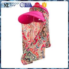 La calidad fina de la fuente de la fábrica imprimió al aire libre el sombrero y el casquillo para