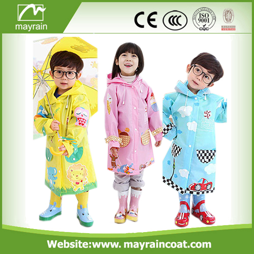 PU Girls And Boys Rainsuit